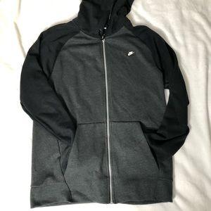 Nike zipper hoodie size M
